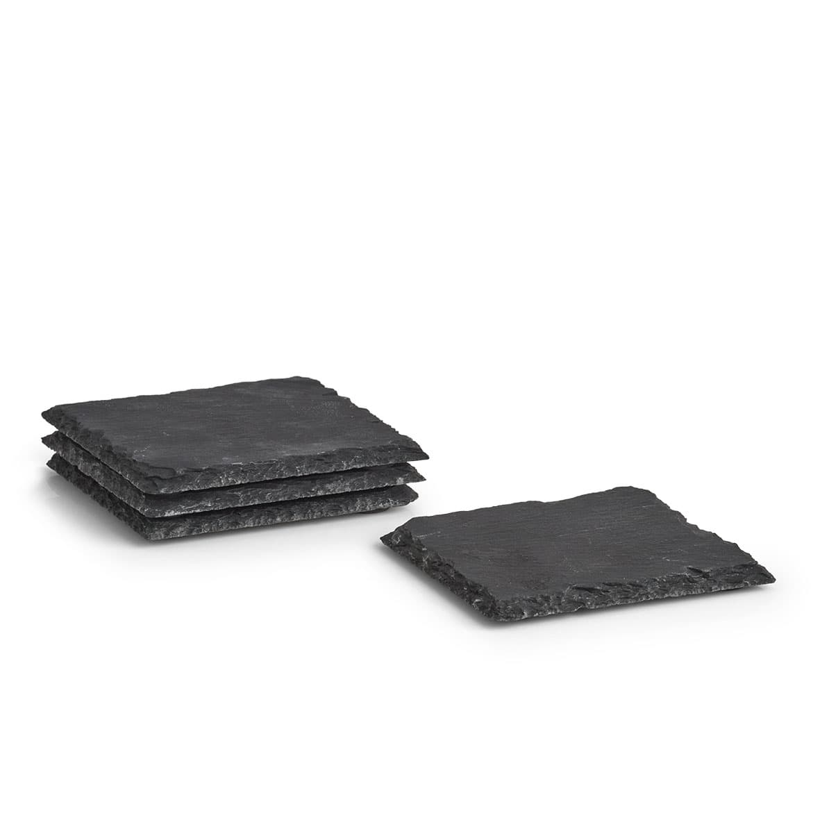 Set coastere, Slate Grafit, 4 piese, L10xl10 cm imagine