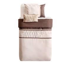 Set cuvertura pat copii si 1 perna decorativa Cool Cream / Brown