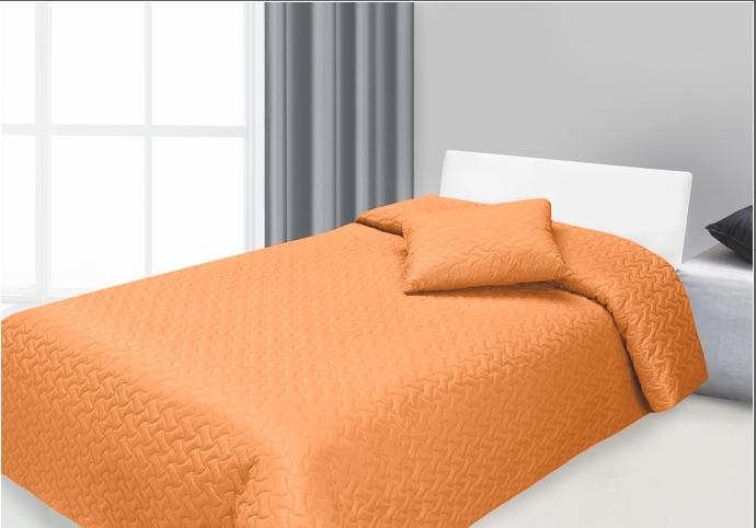 Set cuvertura si perna decorativa Hugo Orange, 170 x 210 cm