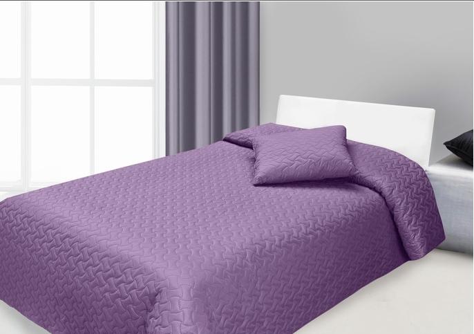 Set cuvertura si perna decorativa Hugo Purple, 170 x 210 cm