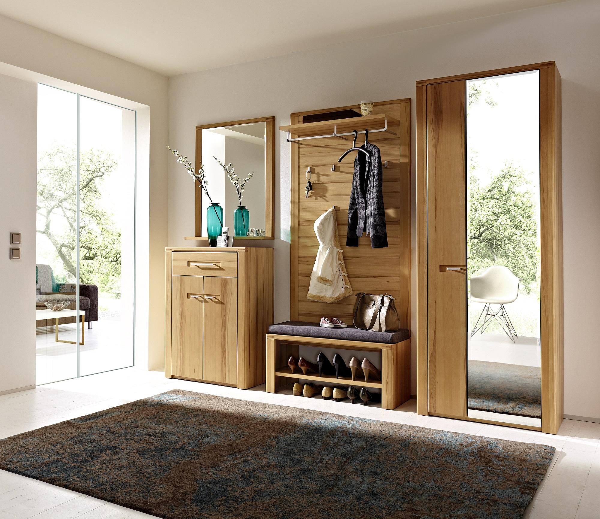 Set de mobila hol din pal si lemn, 5 piese Natur Plus poza