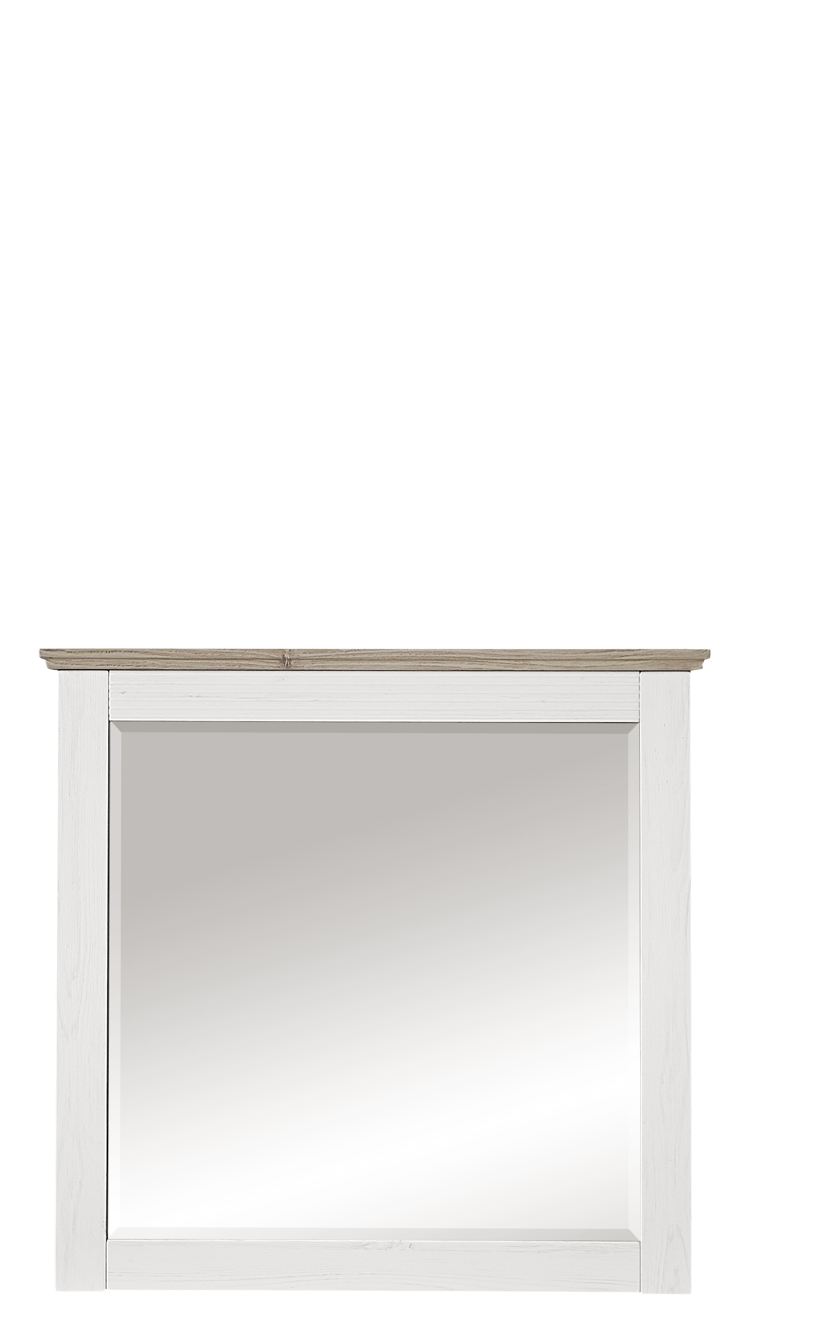 Oglinda din pal si MDF, Victory Alb, 89 x 85 cm imagine