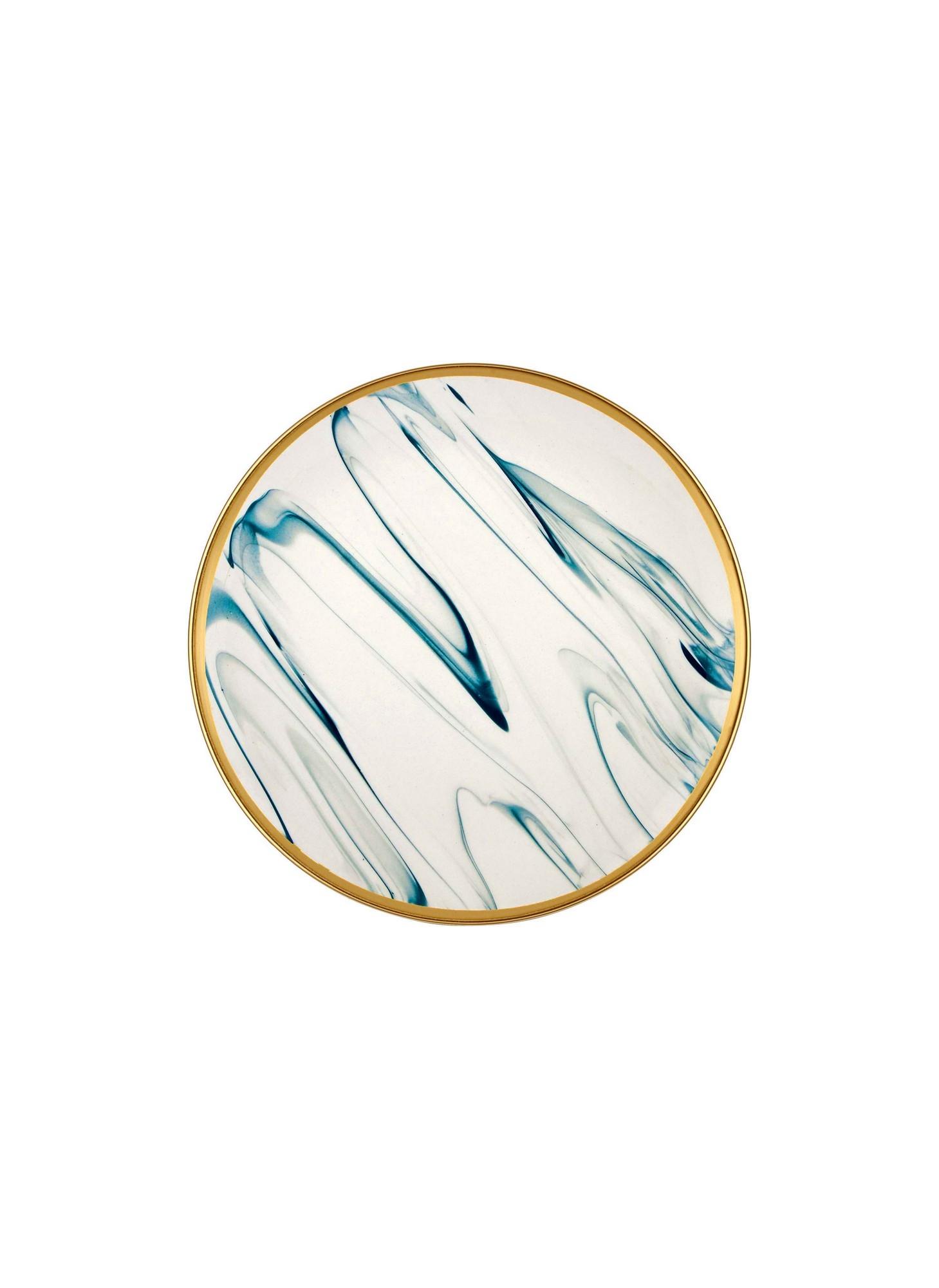 Poza Set farfurii desert din portelan, Golden Multicolor, Ø19 cm, 6 piese