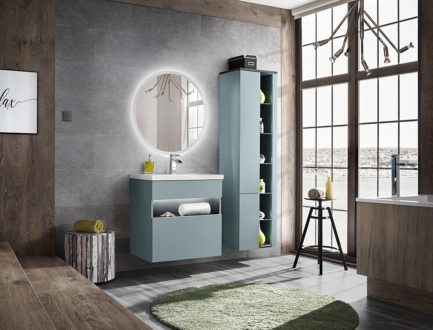 Set Mobilier pentru baie, 4 piese, Bahama Mint imagine