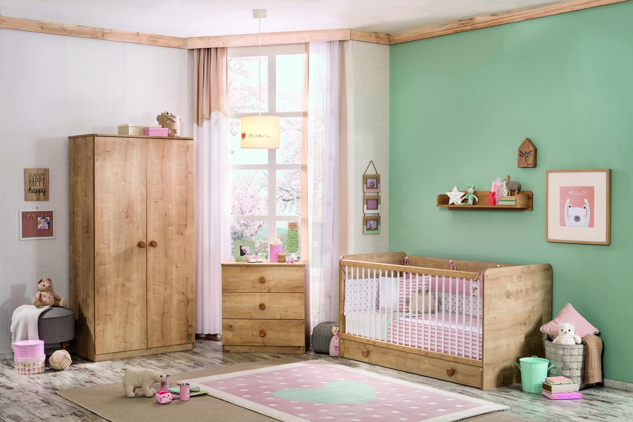 Set Mobila din pal pentru camera bebe, 5 piese Mocha Baby Nature poza