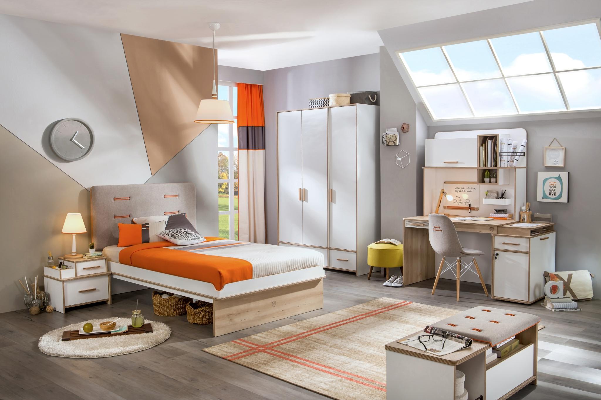 Set Mobila Dormitor Pal Alb Natur