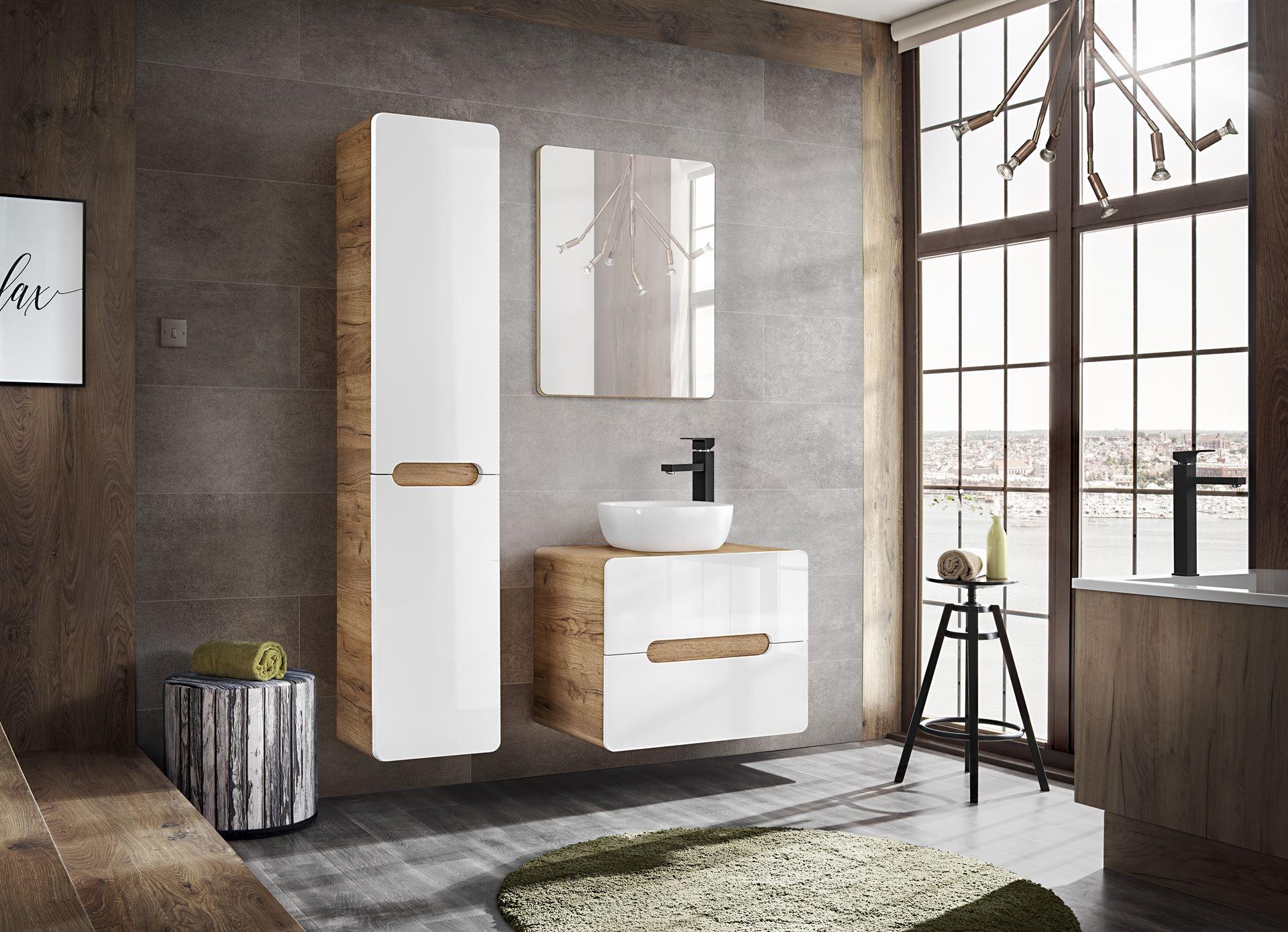 Set Mobilier pentru baie, 4 piese, Aruba imagine