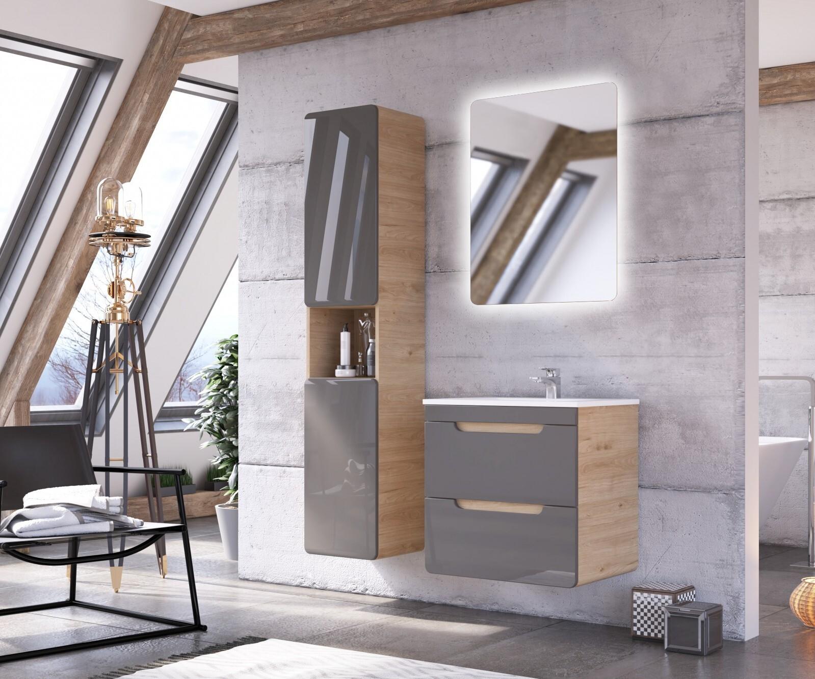 Set Mobilier pentru baie, 4 piese, Aruba Agave imagine