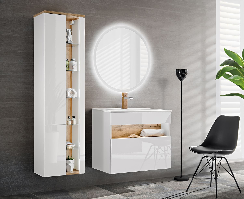 Set Mobilier pentru baie, 4 piese, Bahama White somproduct.ro imagine 2021