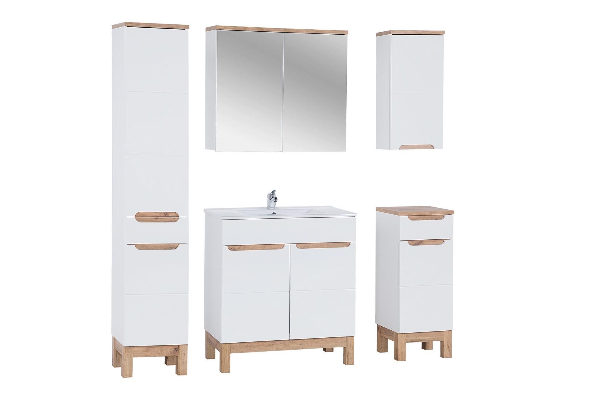 Set Mobilier pentru baie, 6 piese, Bali White XL imagine