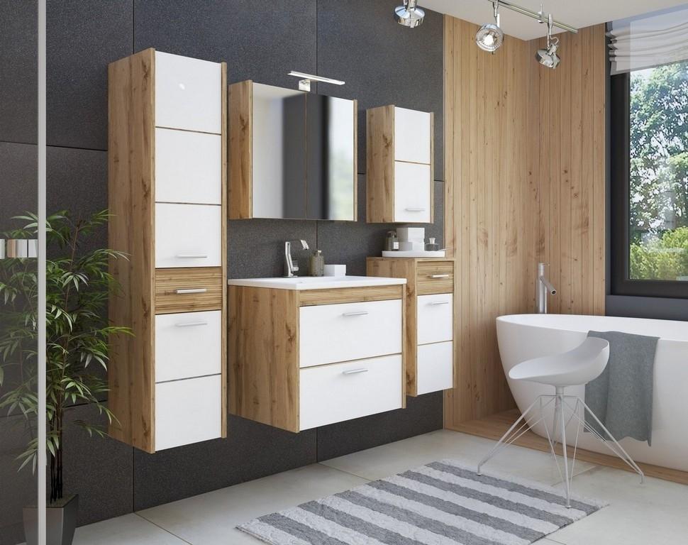 Set Mobilier pentru baie, 7 piese, Ibiza White imagine