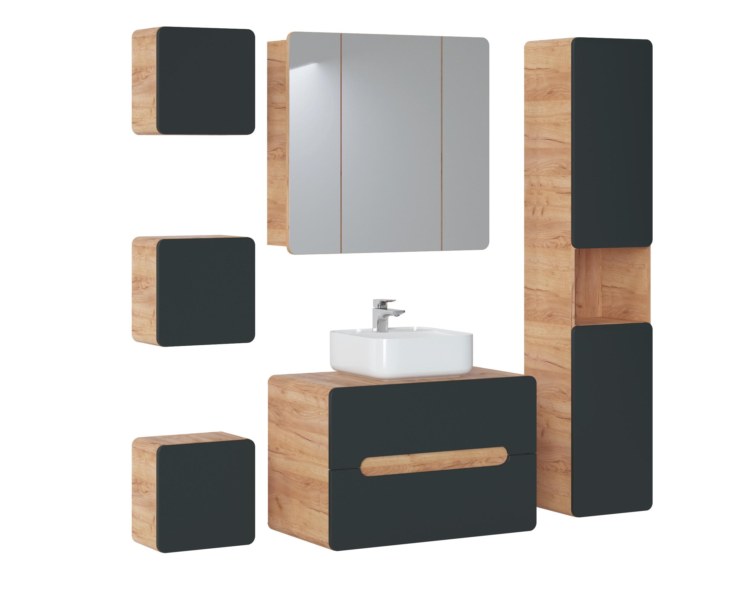 Set Mobilier pentru baie, 7 piese, Aruba Cosmos imagine