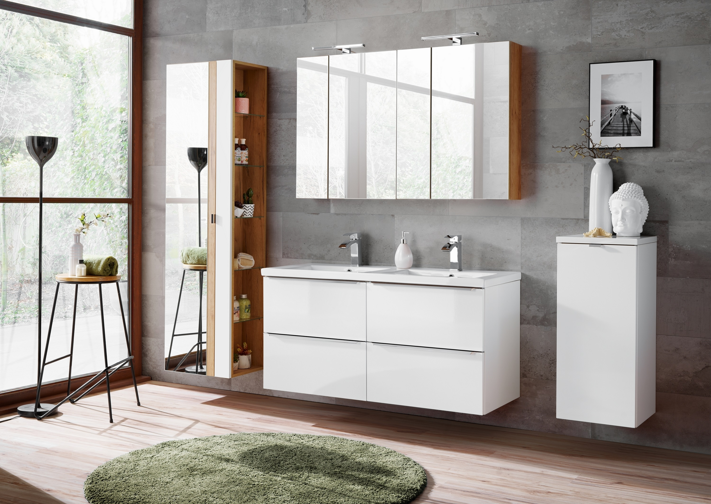 Set Mobilier pentru baie, 7 piese, Capri White XL imagine