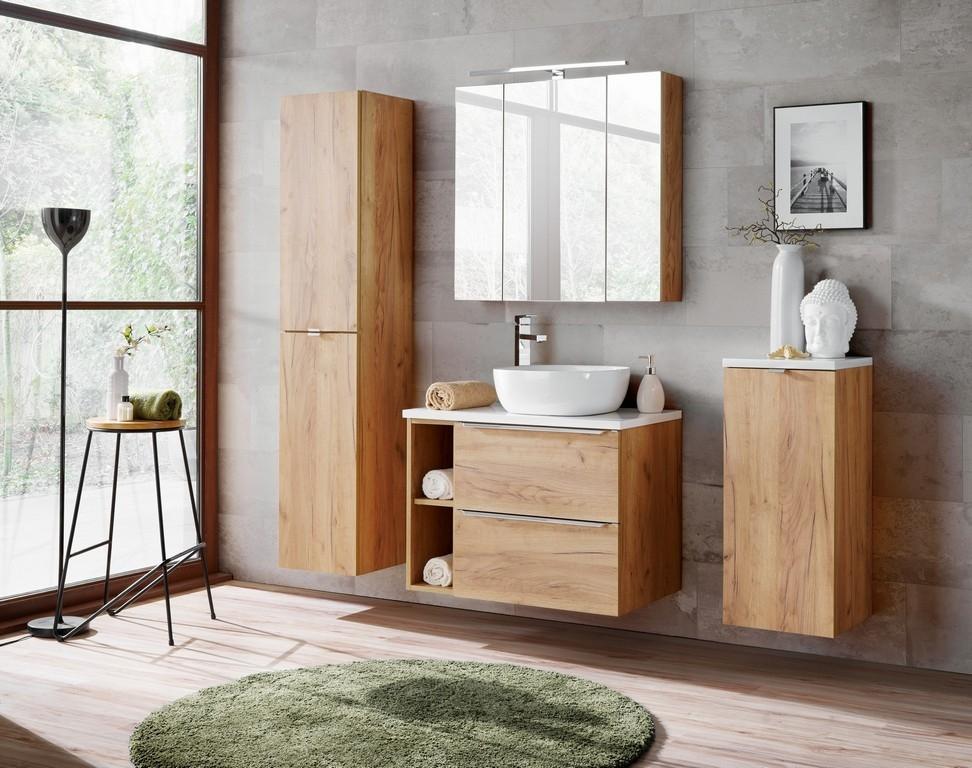 Set Mobilier pentru baie, 8 piese, Capri Oak XL somproduct.ro