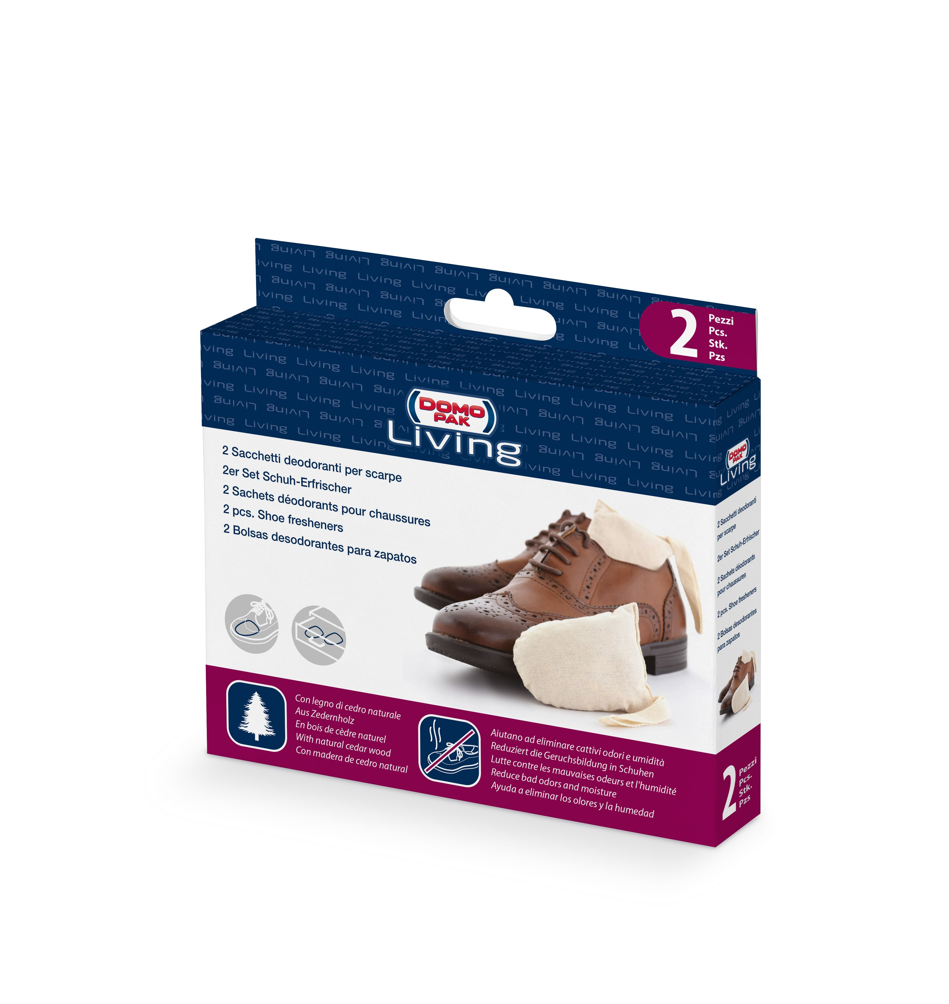 Set odorizant incaltaminte din lemn de cedru, 2 bucati, Shoes Crem, L11xl8xH2,5 cm imagine