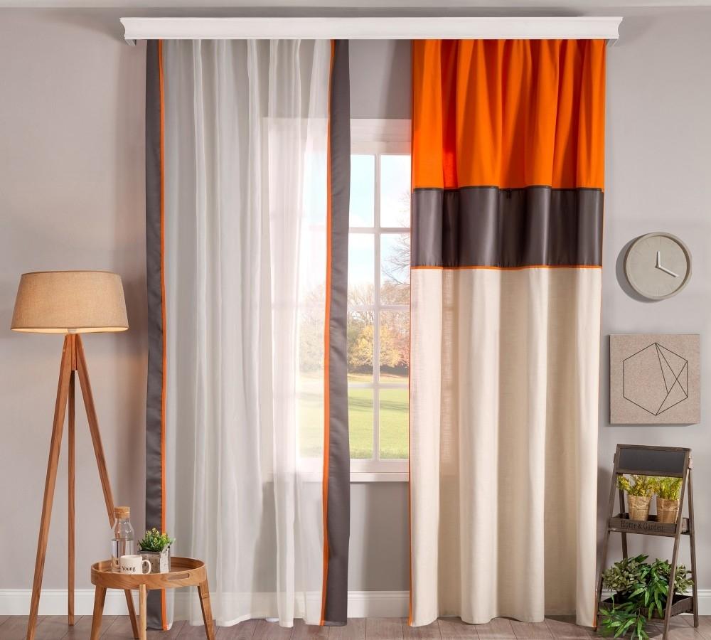 Set perdea si draperie pentru copii Dynamic Multicolor / Alb imagine
