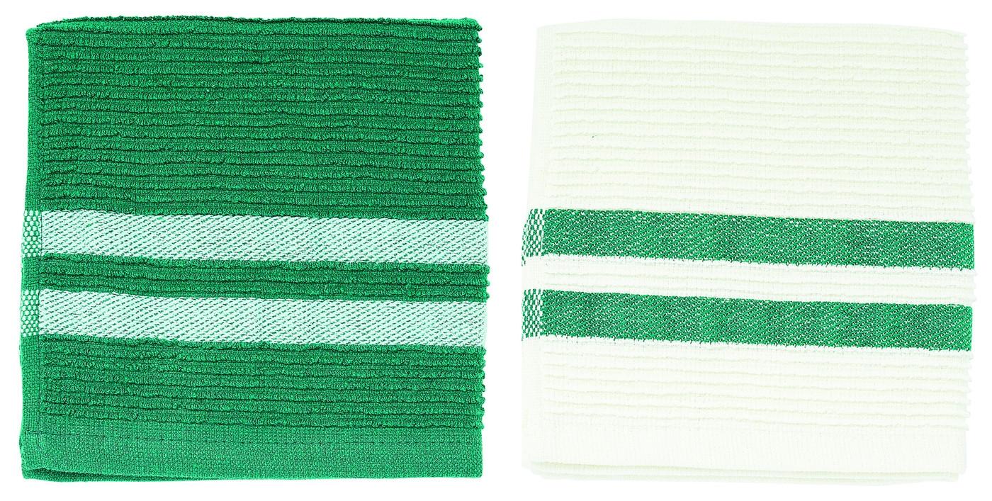 Set prosoape de bucatarie 33 x 33 cm, Evergreen, Jamie Oliver, 2 buc imagine