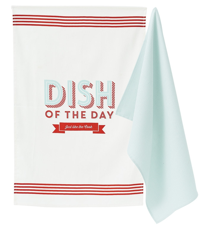 Set prosoape de bucatarie 50 x 70 cm, Dish of the Day, Jamie Oliver, 2 buc poza