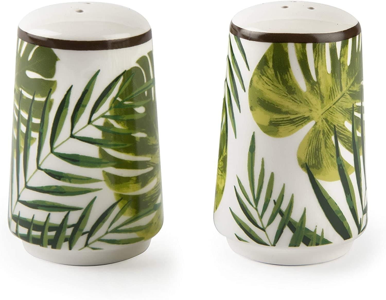 Poza Set solnita si pipernita, din dolomita, Ø5,5xH8 cm, Foliage Verde