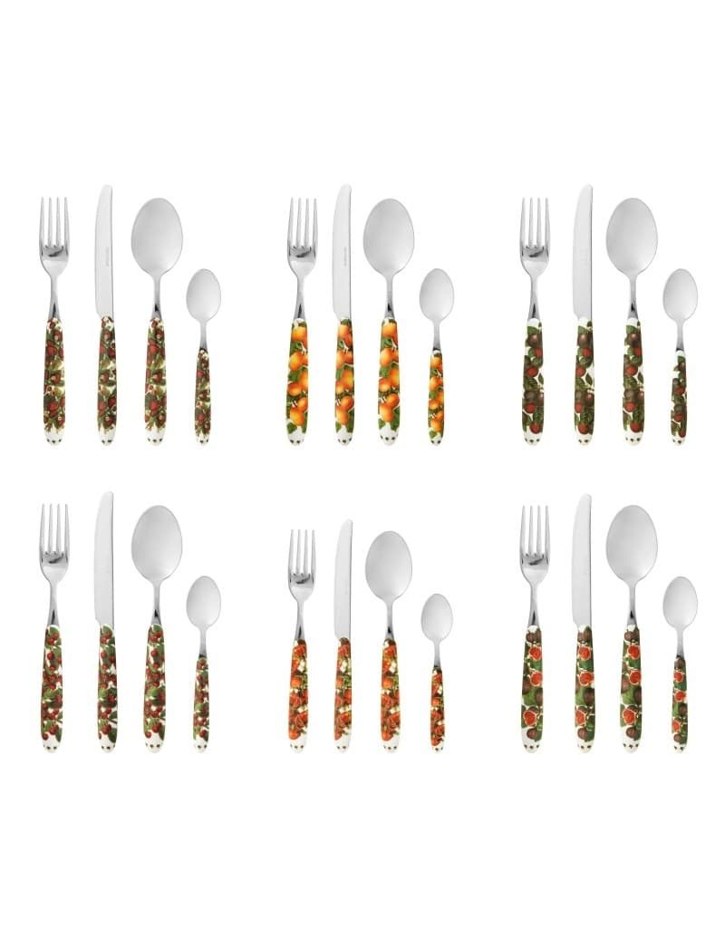 Set tacamuri din otel inoxidabil, 24 piese, Le Primizie Multicolor somproduct.ro