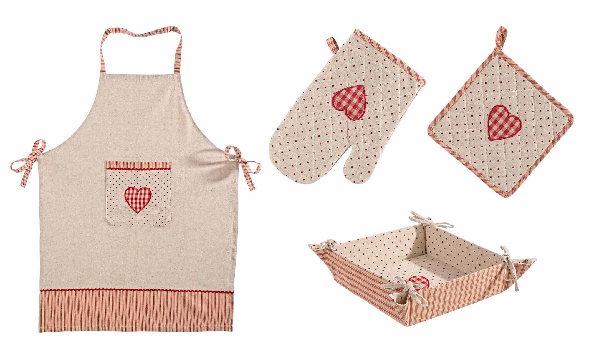 Set textile bucatarie, 4 piese, Anna Rosu / Bej imagine