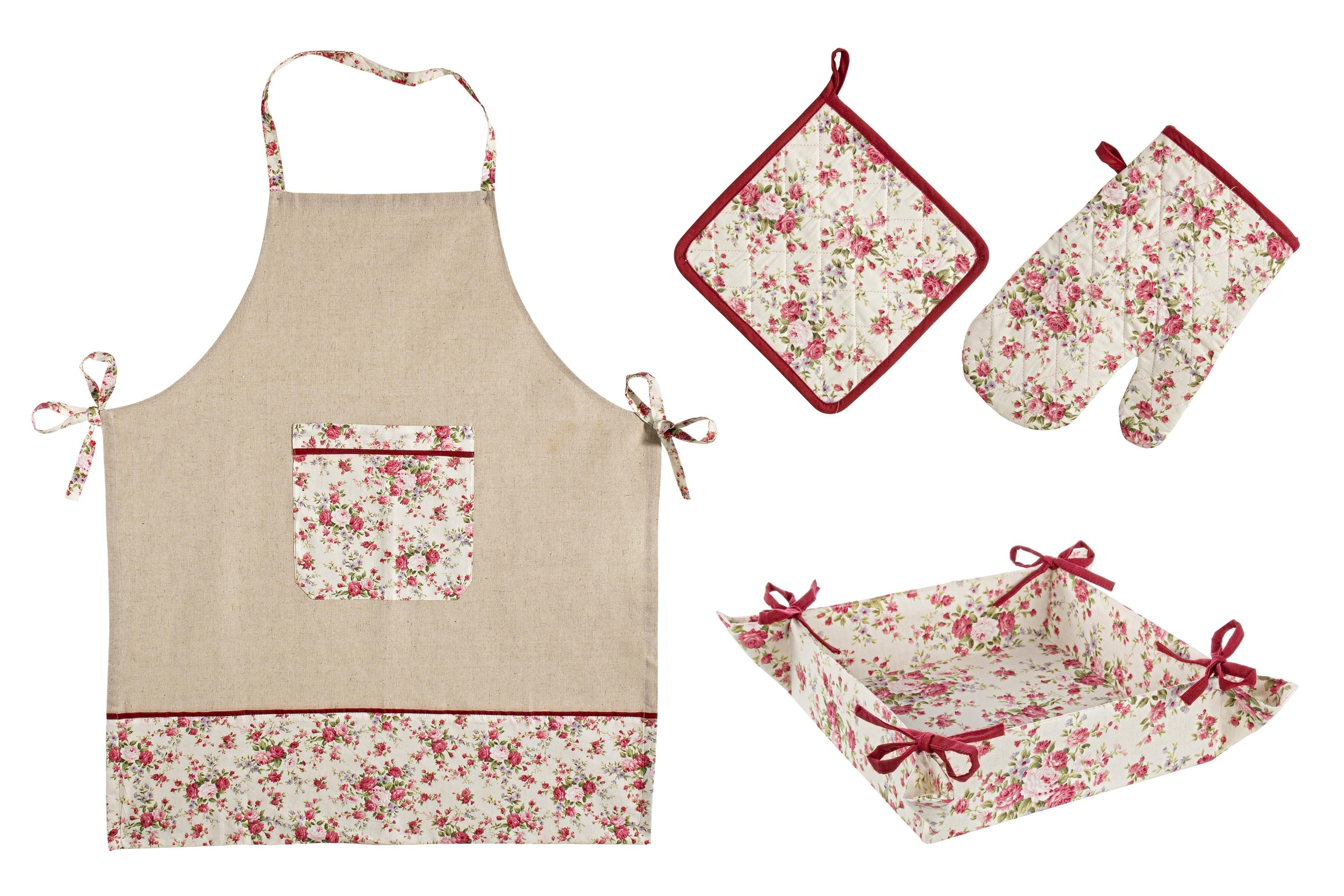 Set textile bucatarie, 4 piese, Lady Rose Multicolor imagine