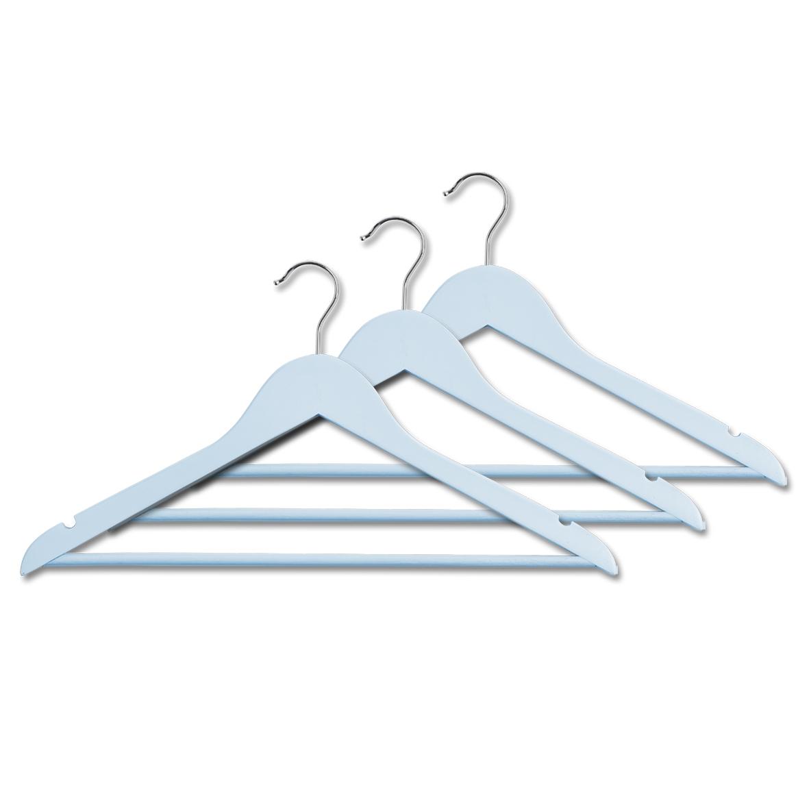 Set umerase din lemn si metal, Scandi Albastru, l44xH23 cm, 3 bucati imagine