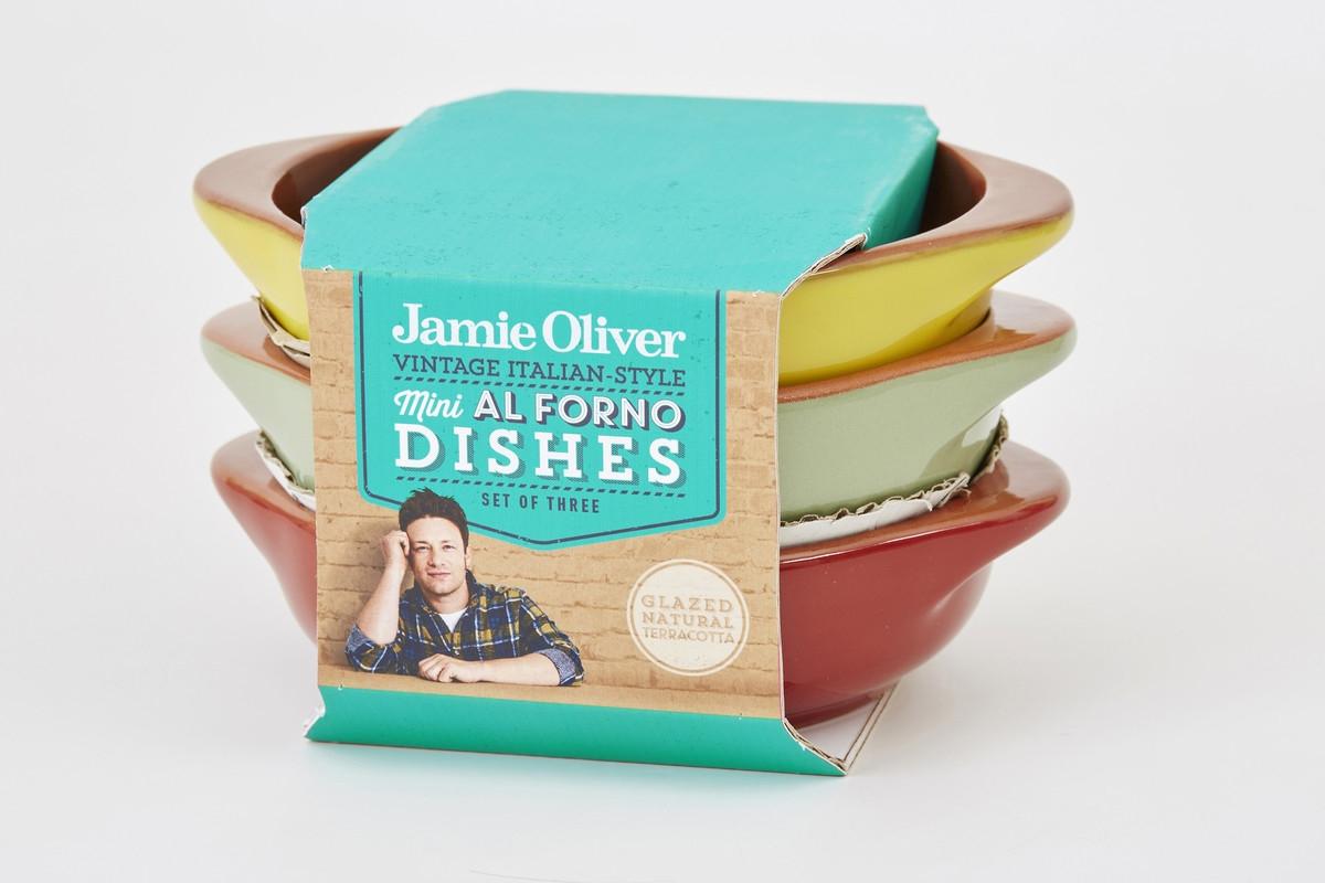 Set vase ceramice pentru cuptor Yellow, O 14 cm, Jamie Oliver, 3 piese