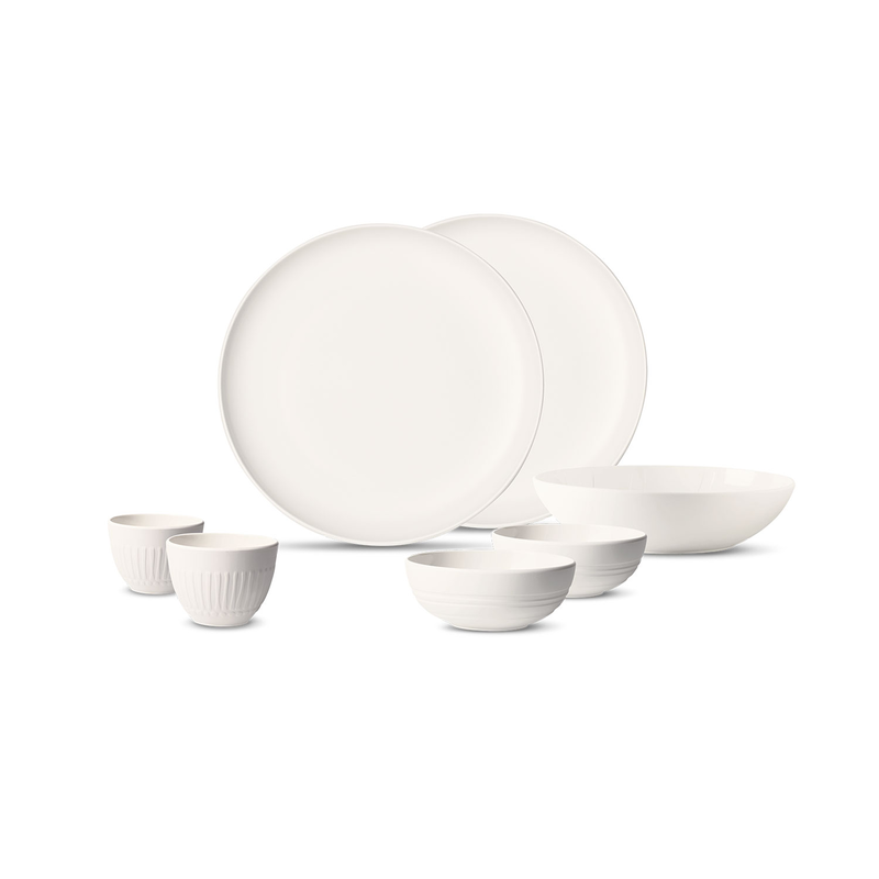 Set vesela din portelan, It's my Match Alb, 7 piese, Villeroy & Boch imagine