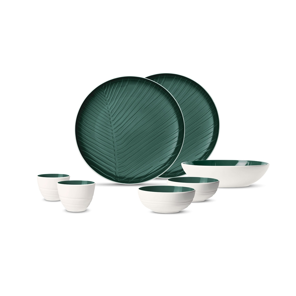 Set vesela din portelan, It's my Match Alb / Verde, 7 piese, Villeroy & Boch imagine