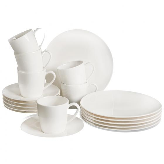 Set vesela din portelan, Voice Basic Breakfast Alb, 18 piese, Villeroy & Boch imagine