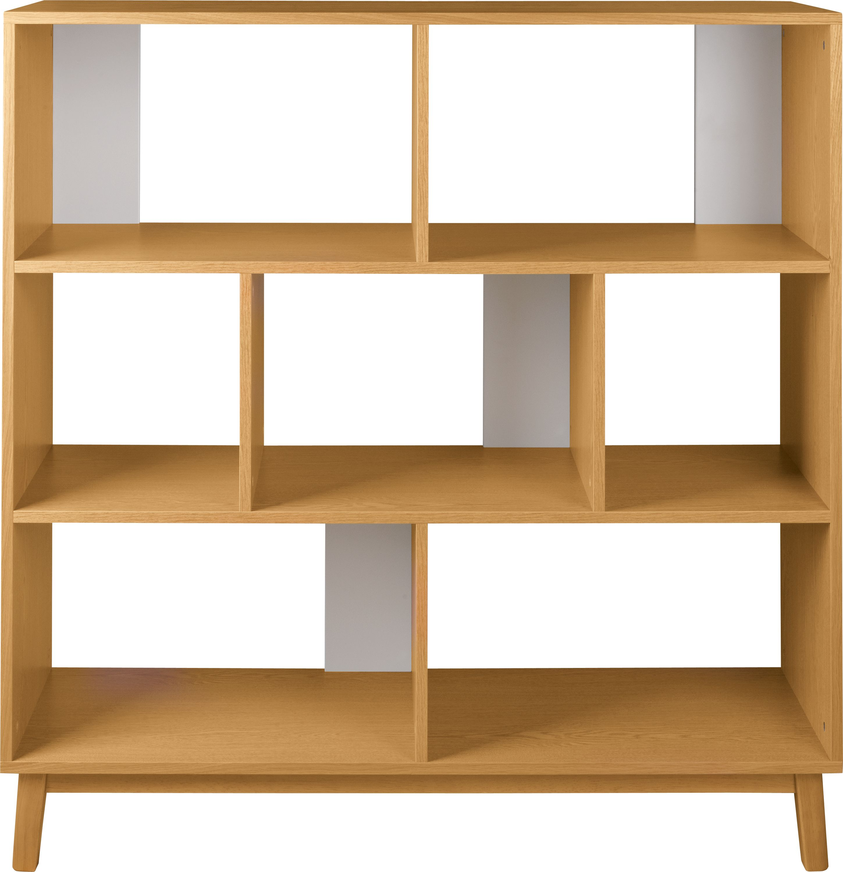 Biblioteca Evie Oak L130xl40xh130 cm