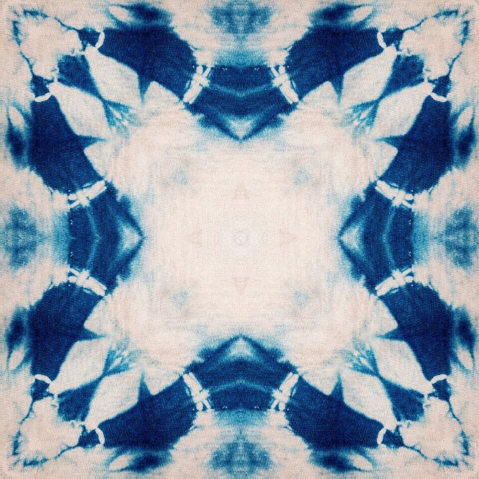 Set 3 role Tapet Imprimat Digital Shibori Flower imagine