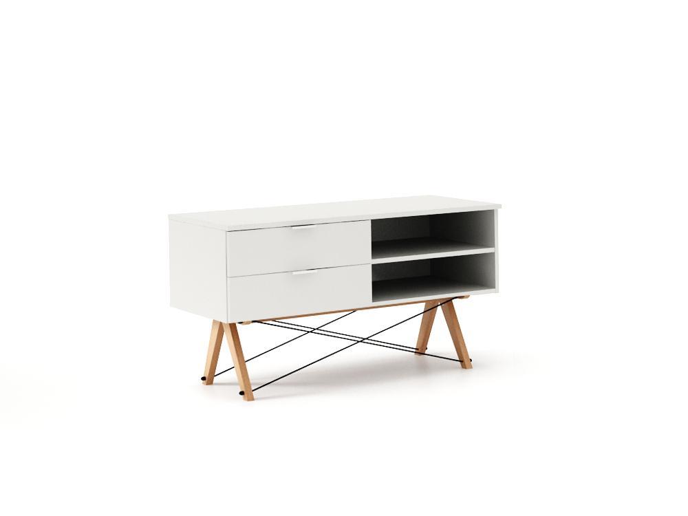 Comoda TV Basic White, L120xl50xh65 cm