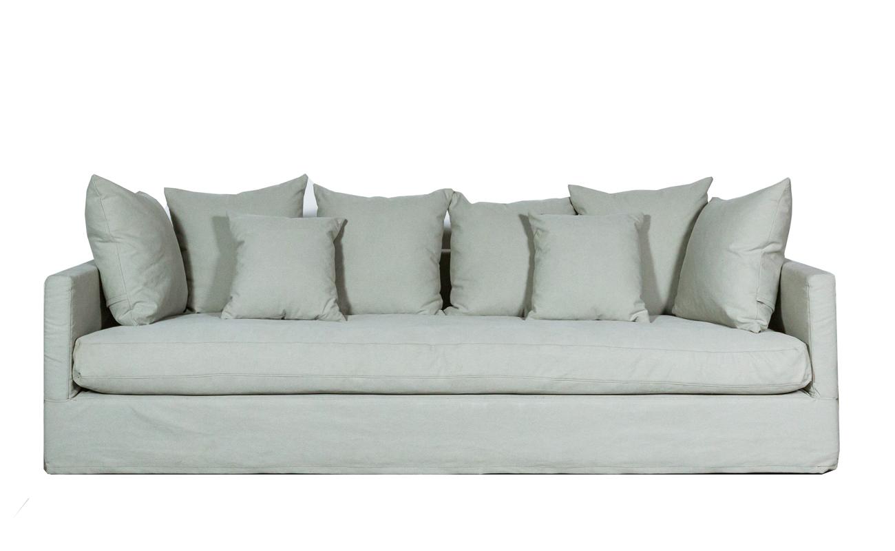 Canapea fixa 3,5 locuri Simone Pastel Grey somproduct.ro