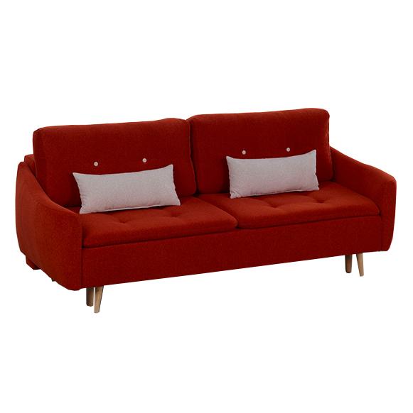 Canapea extensibila tapitata cu stofa, 3 locuri Skandia Red, l225xA105xH77 cm de la