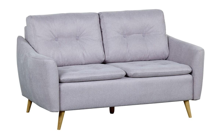Canapea fixa tapitata cu stofa, 2 locuri, Skandia Grey, 155xA90xH77 cm