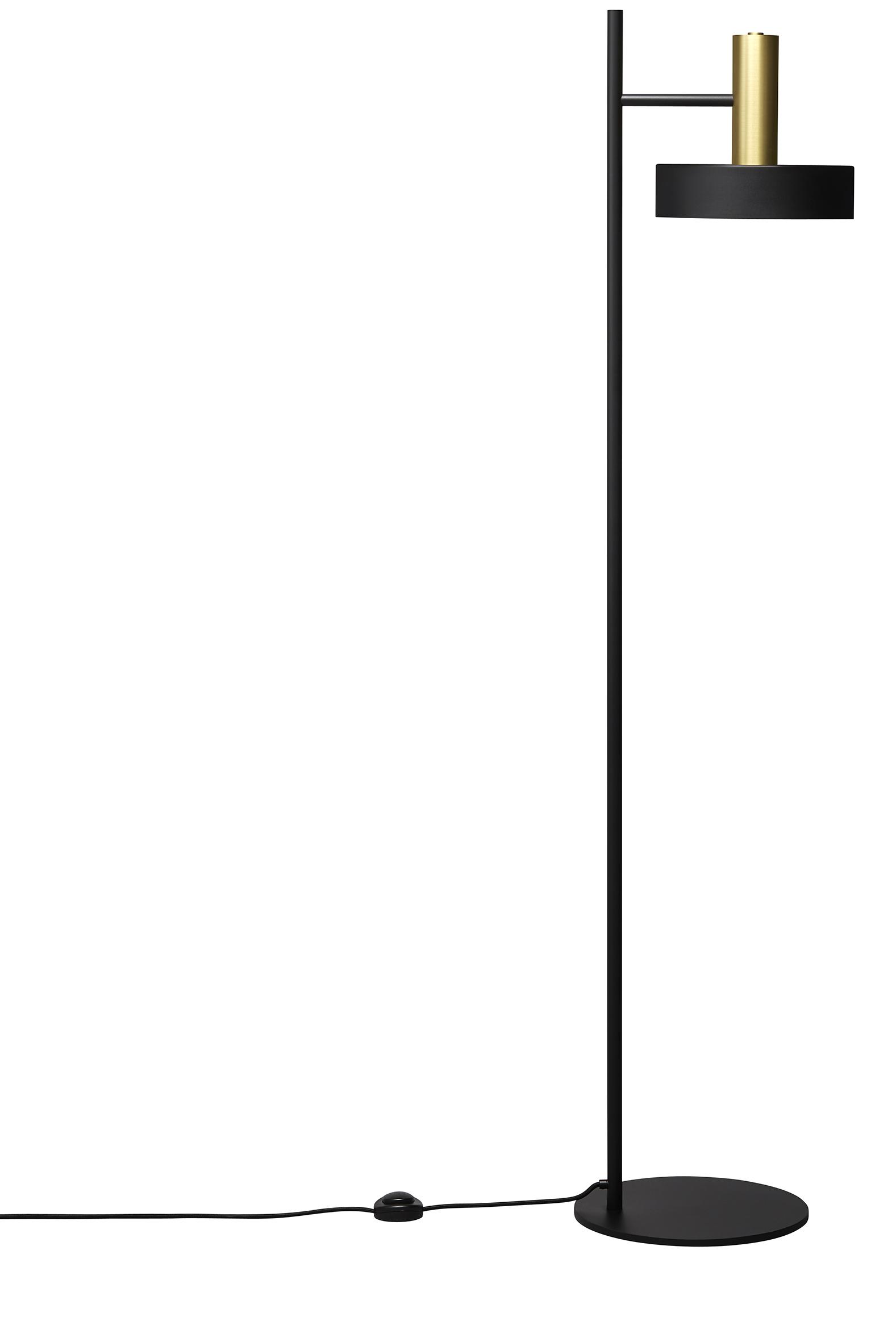 Lampadar SL01, H153,5 cm, Black / Brass