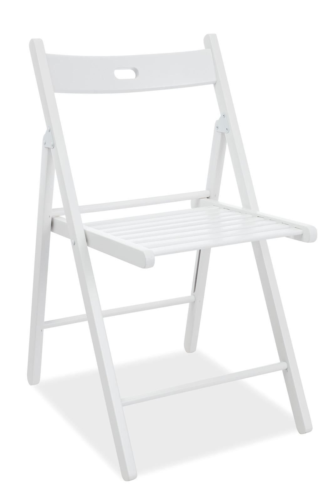 Scaun pliabil din lemn Smart II White