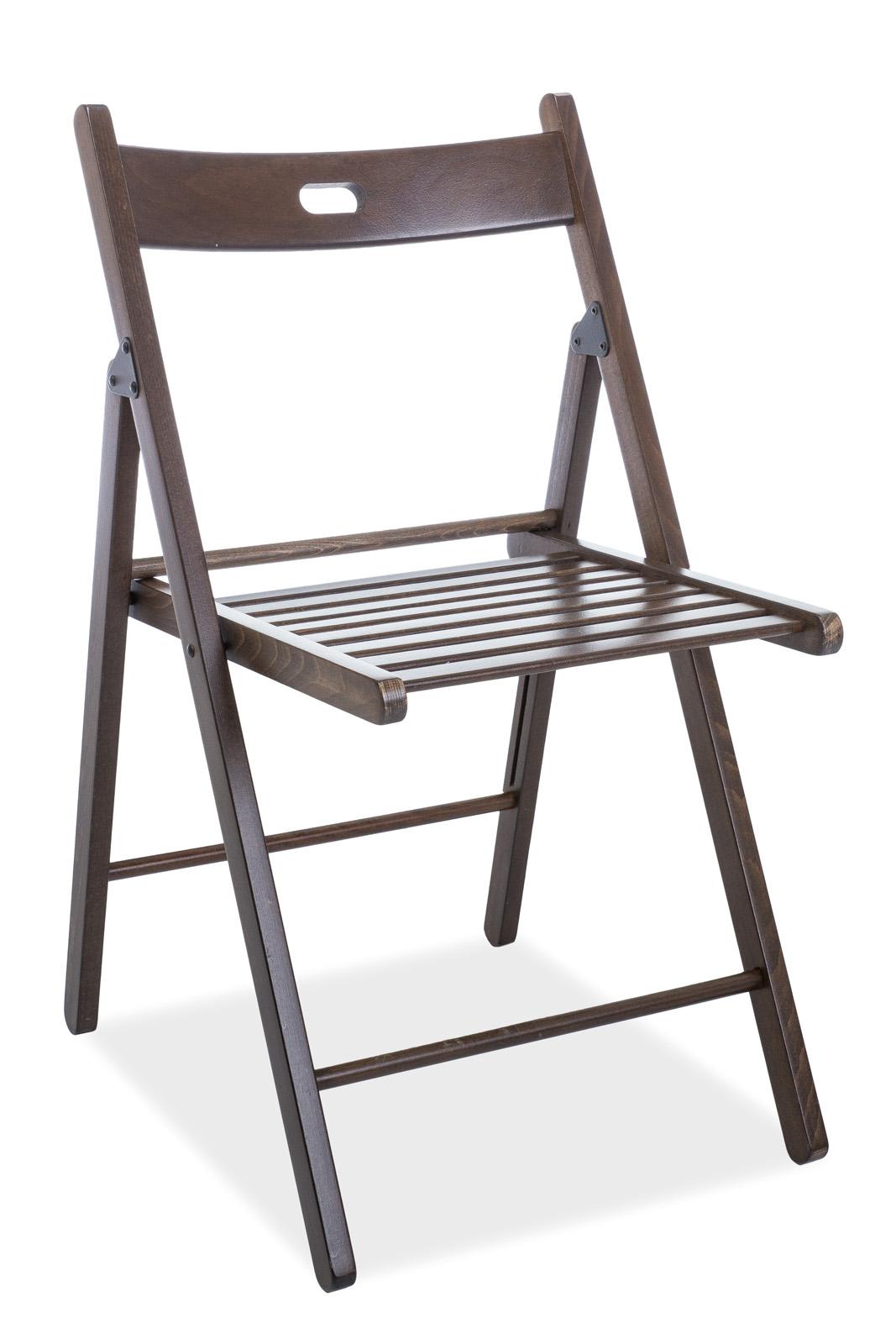 Scaun pliabil din lemn Smart II Walnut