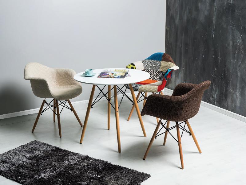 Masa din MDF si lemn Soho 90, Ø90xh75 cm