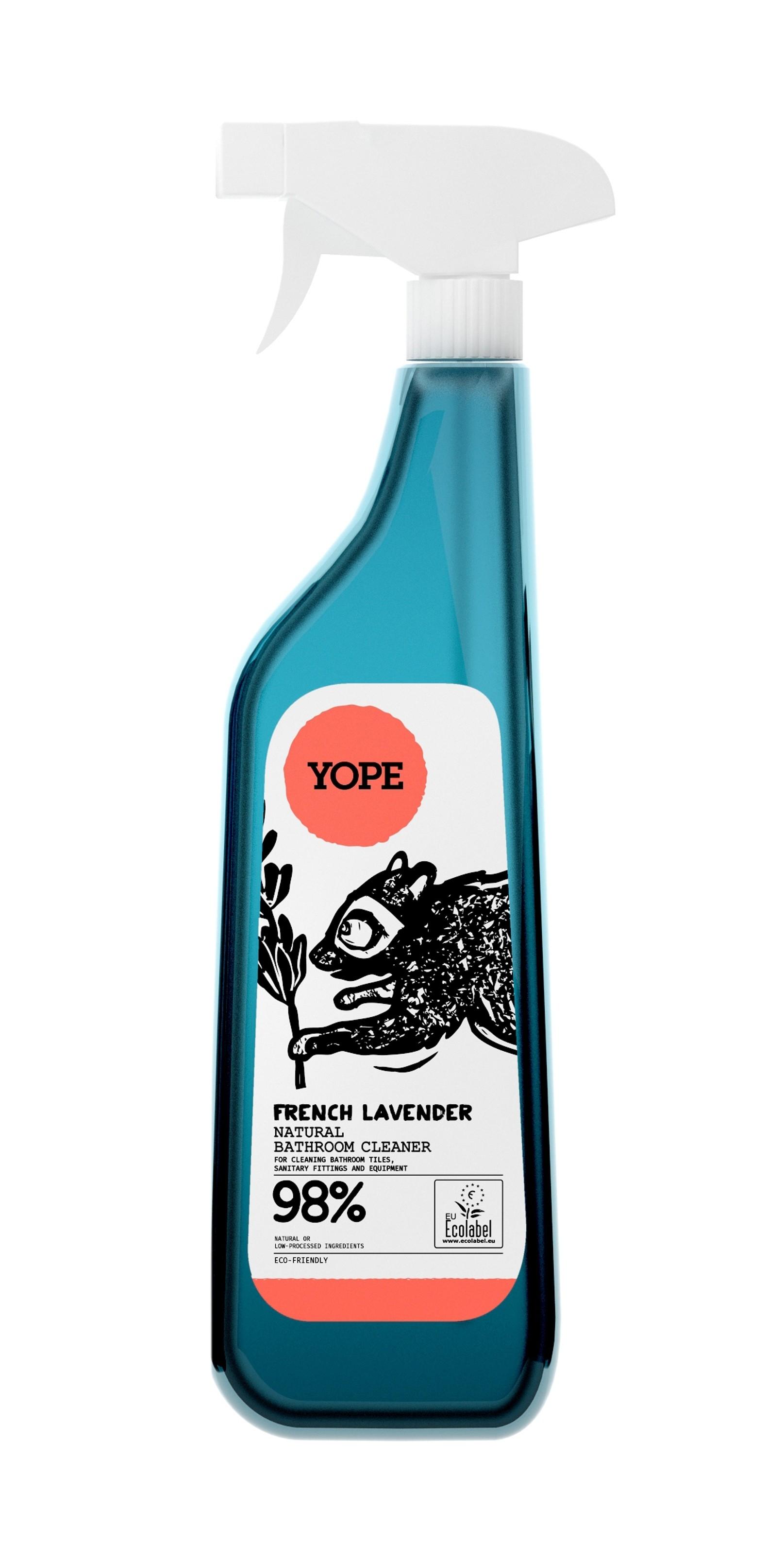 Solutie de curatat baia, cu extract de lavanda, ingrediente naturale, 750 ml, Yope imagine