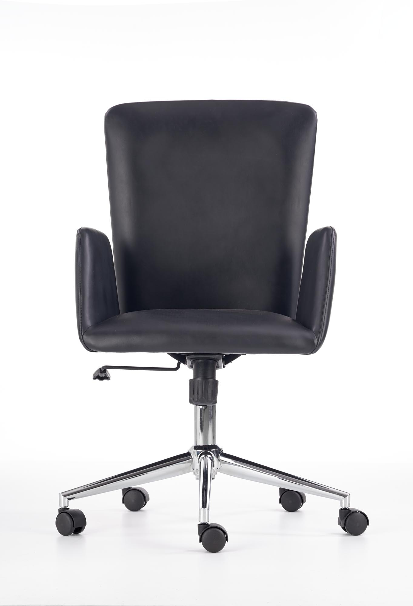 Scaun de birou ergonomic tapitat cu piele ecologica Soul Black, l55xA56xH98-105 cm vivre.ro