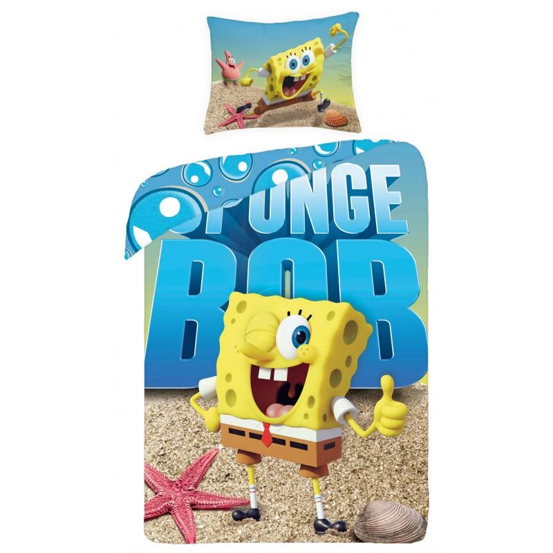 Lenjerie de pat copii Cotton Sponge Bob SBM0012 imagine