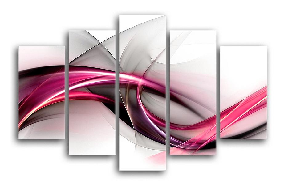 Tablou 5 piese Canvas Fioletowa 100x150 cm