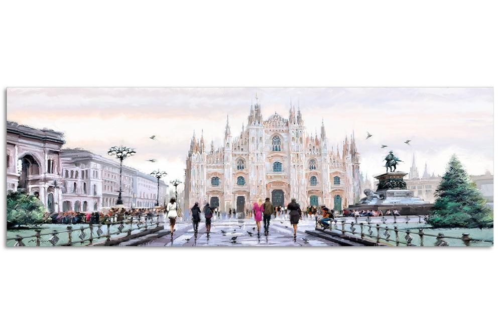 Tablou Canvas Watercolor Milano, 45x140cm somproduct.ro