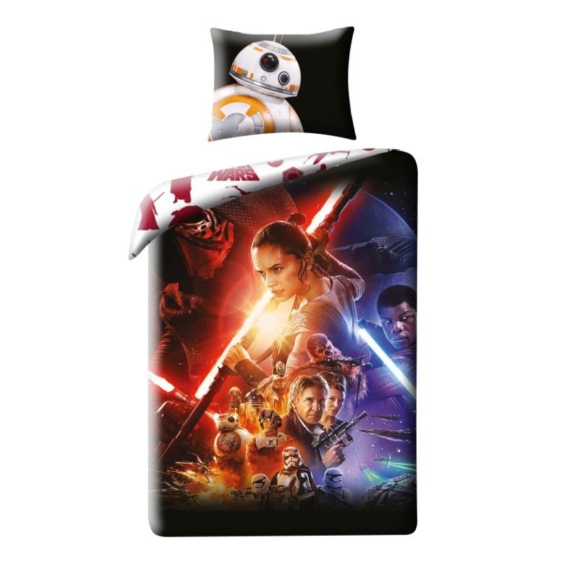 Lenjerie de pat copii Cotton Star Wars Star723BL imagine 2021