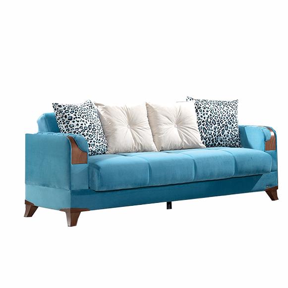 Canapea extensibila 3 locuri Star Blue K4