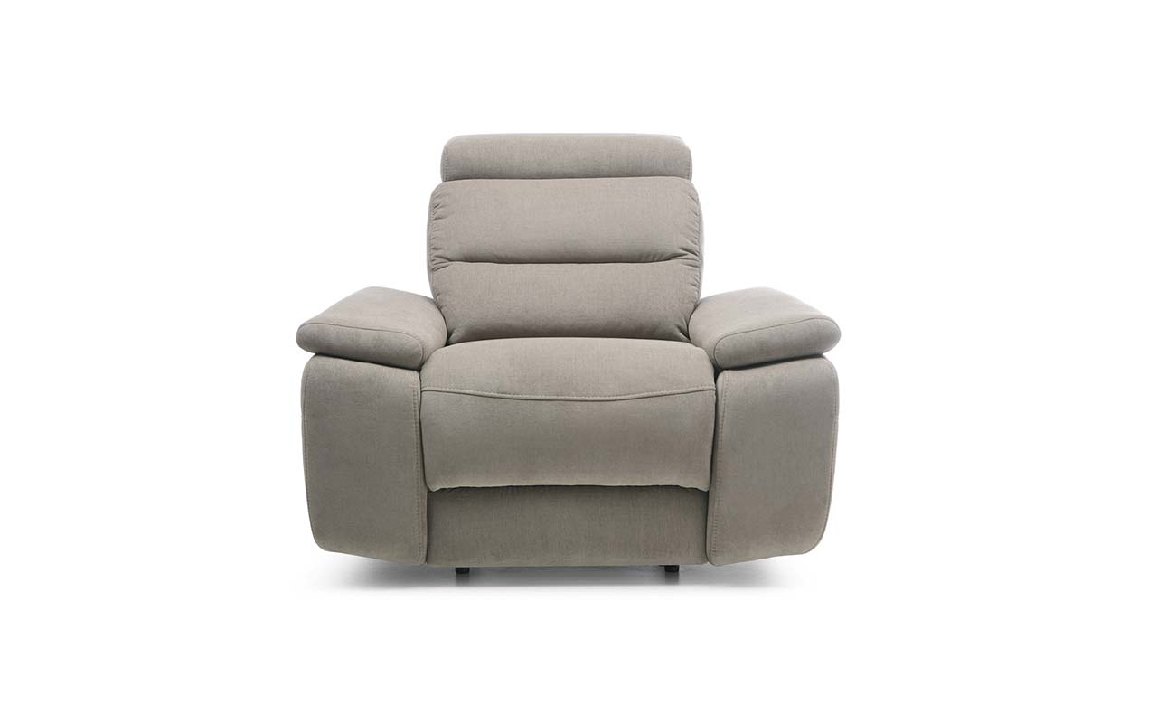 Fotoliu recliner tapitat cu stofa Stella Grey l114xA107xH88 cm