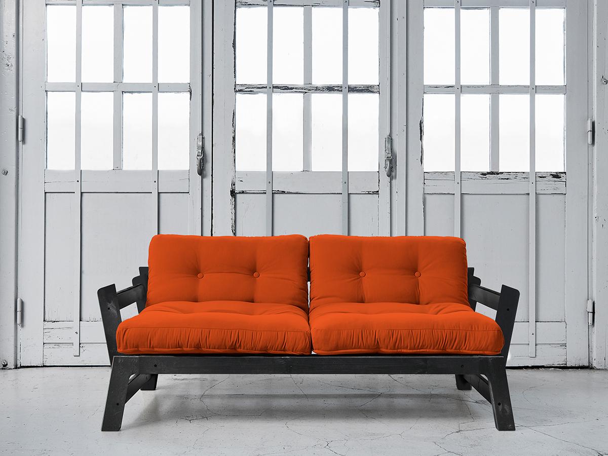 Canapea Extensibila Step Black Orange imagine
